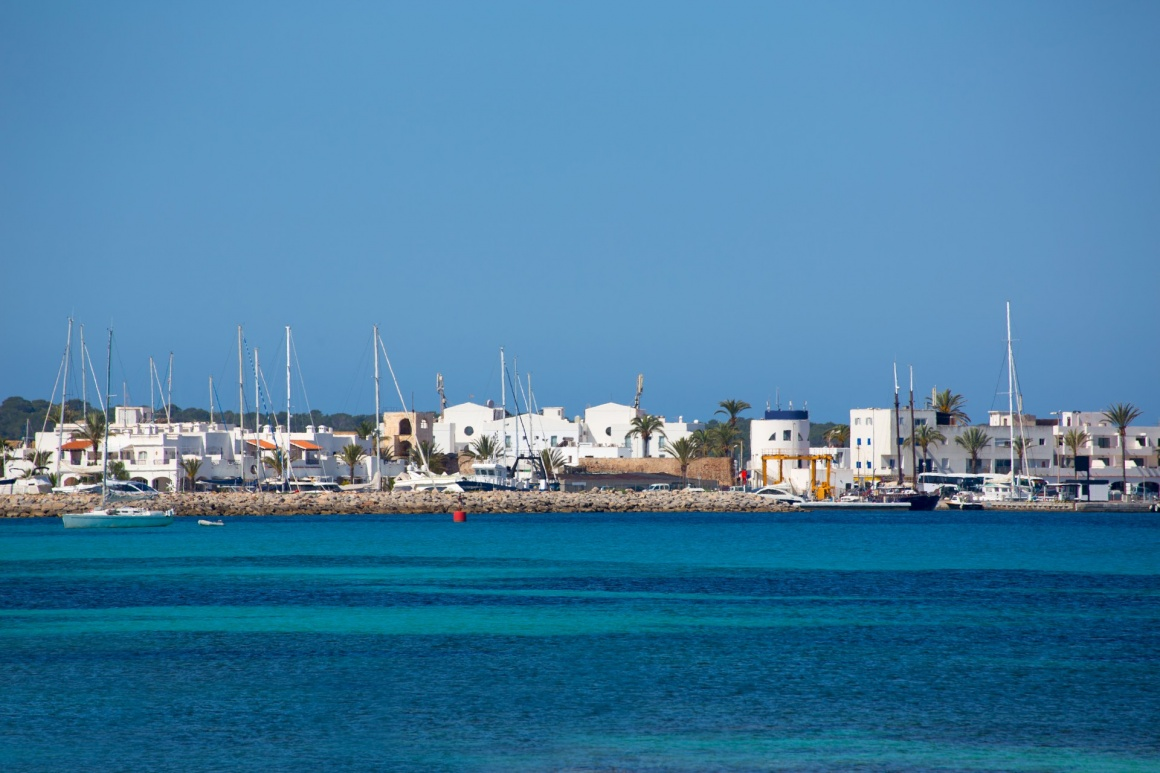 'La Savina Sabina village and marina in Formentera Balearic Islands' - Formentera