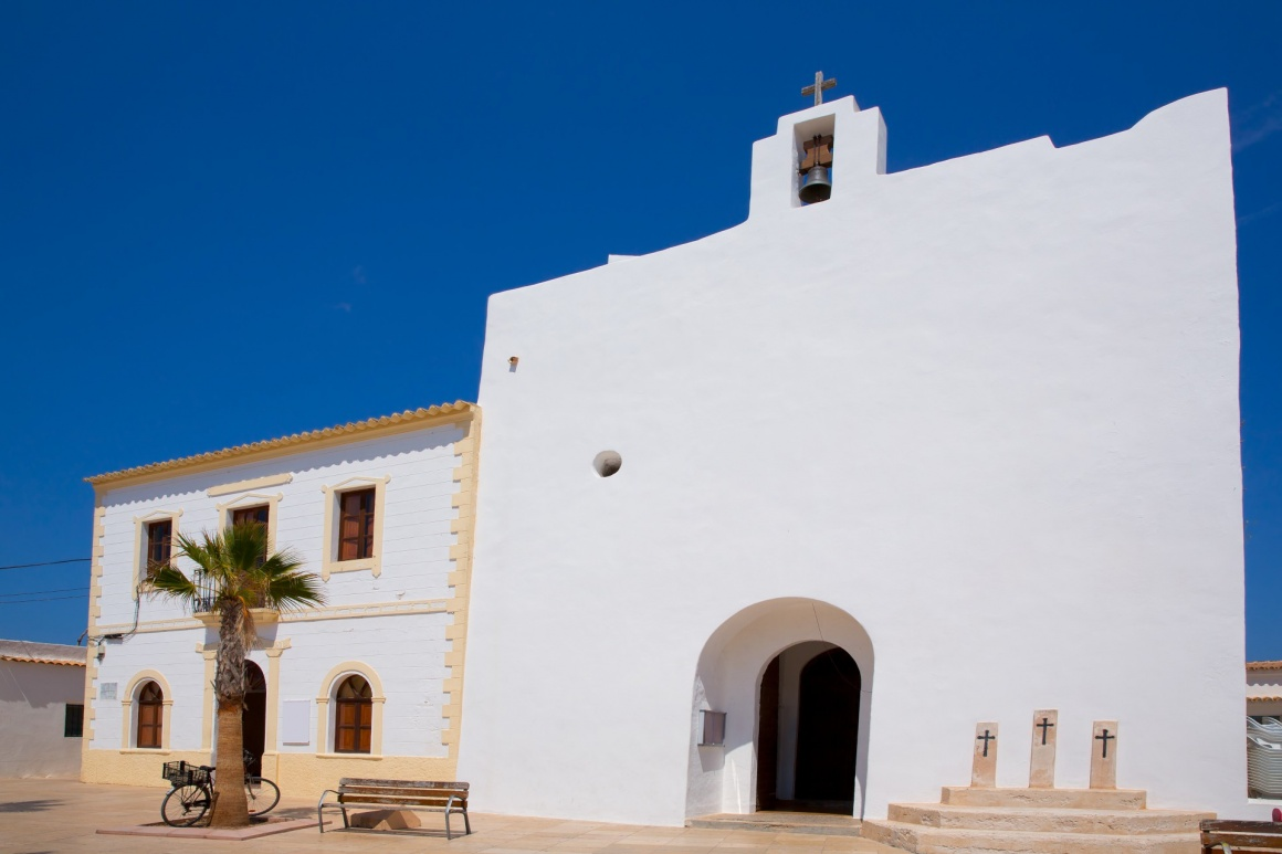 'Formentera Sant Francesc San Francisco Javier church in Balearic Islands' - Formentera